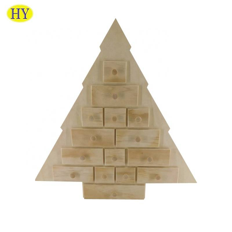 New design  wooden Christmas tree  desktop organizer with drawers