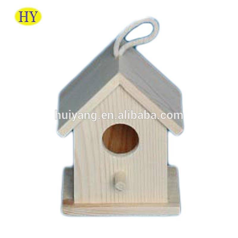 Custom Cheap New Unfinished Wood Bird House Wholesale