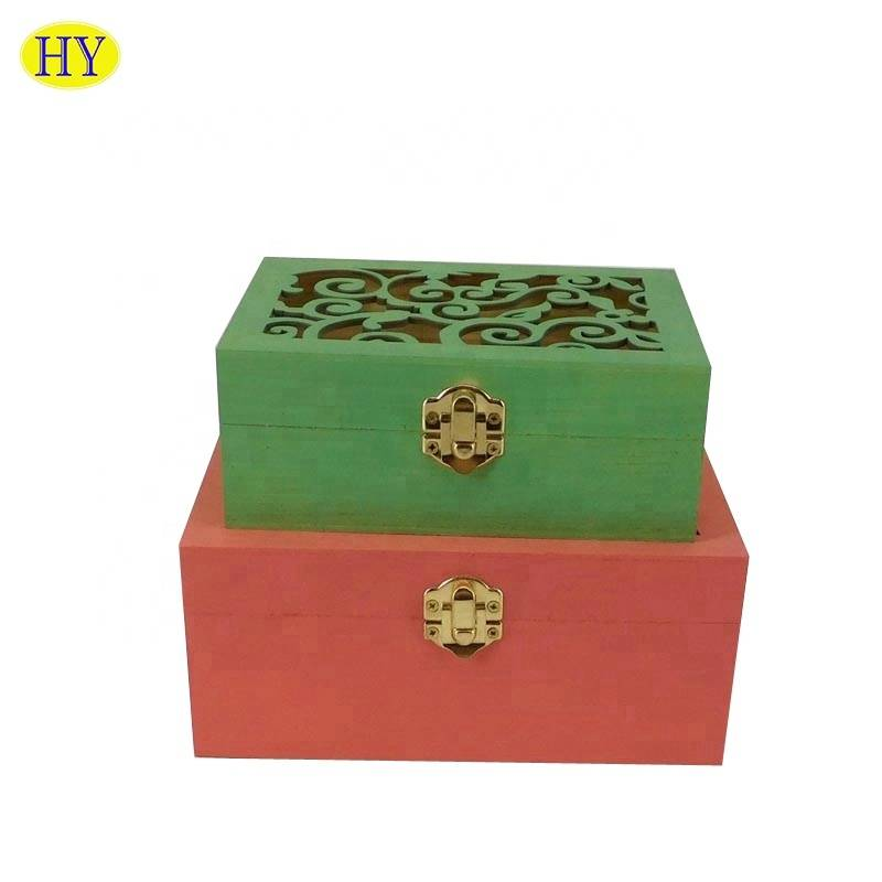 One of Hottest for Wooden Napkin Holder - High Quality Luxury New Design Customized Wooden  craft packaging Box – Huiyang