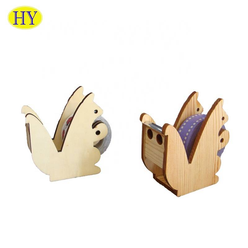 Decorative tape dispenser tape seat desk wooden tape dispenser
