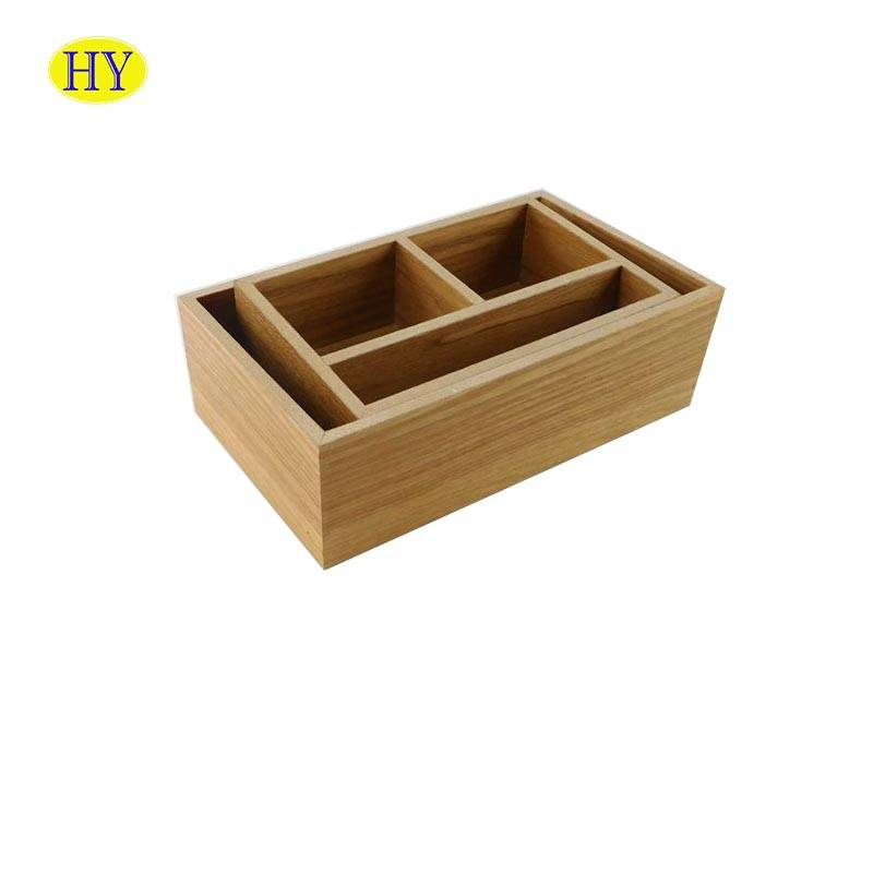 Office Desktop Organizer Wood Holder with Compartment