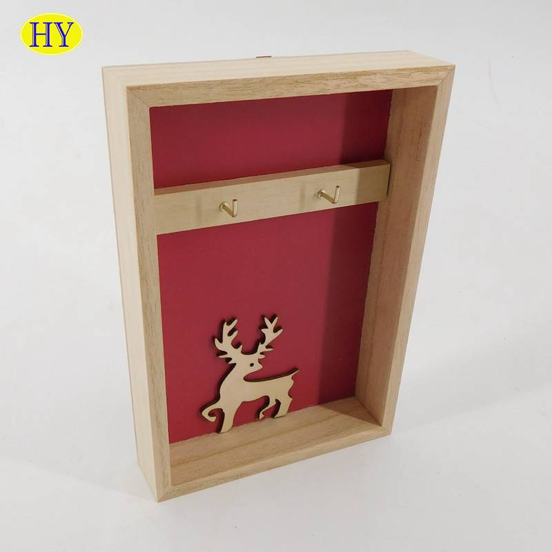 Custom unfinished wooden key lock box factory cheap wholesale