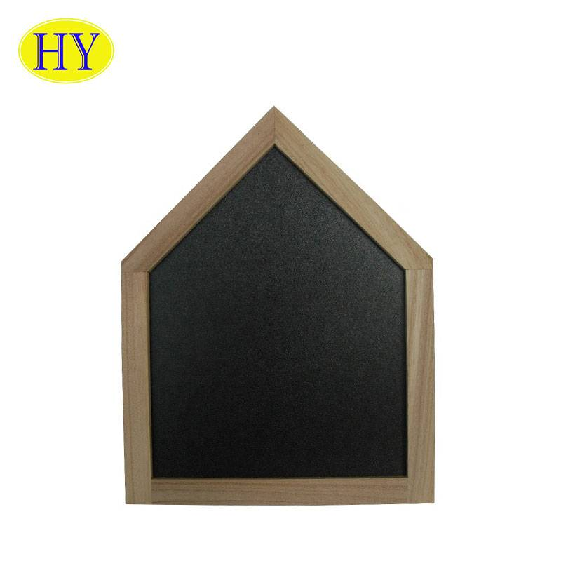 cheap house shape wall mounted wooden blackboard with frame