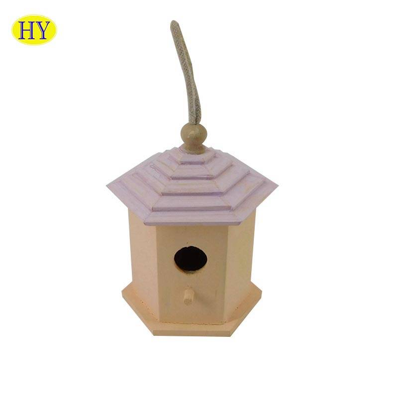 Wholesale DIY Hanging Wood Bird Cage for Outdoor