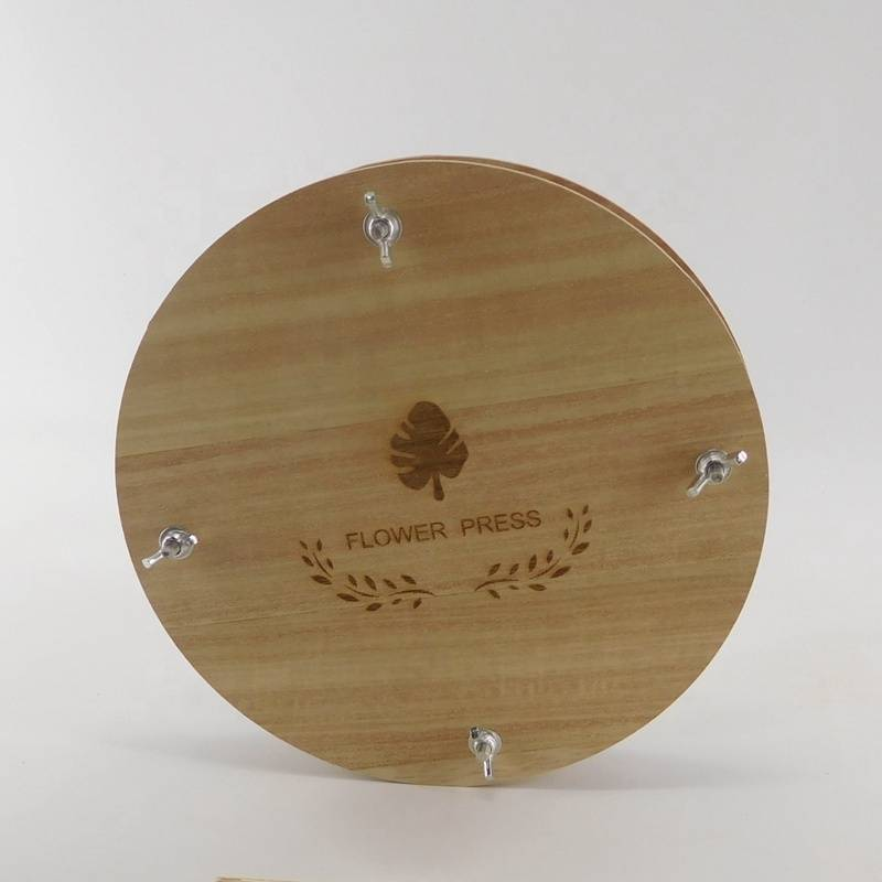 round shape cheap wood flower press wholesale