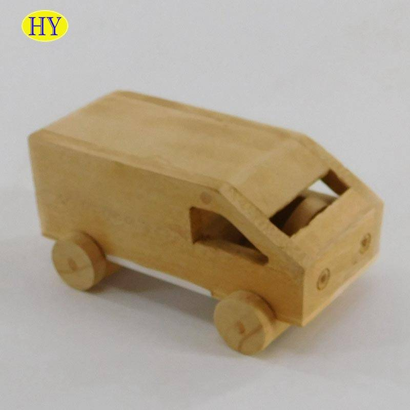 Wholesale  Handmade Kid's Wooden Toy Wood Toy Car