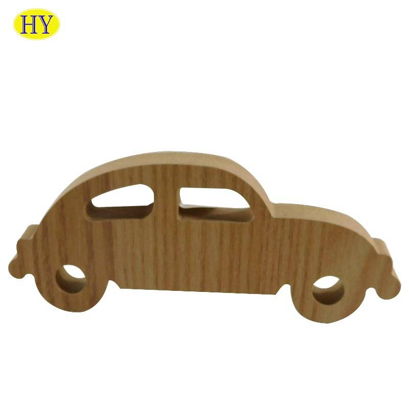 factory customized Wooden Box With Glass Lid - Wholesale DIY Kid's Wooden Toy Wood Car Educational Toy – Huiyang