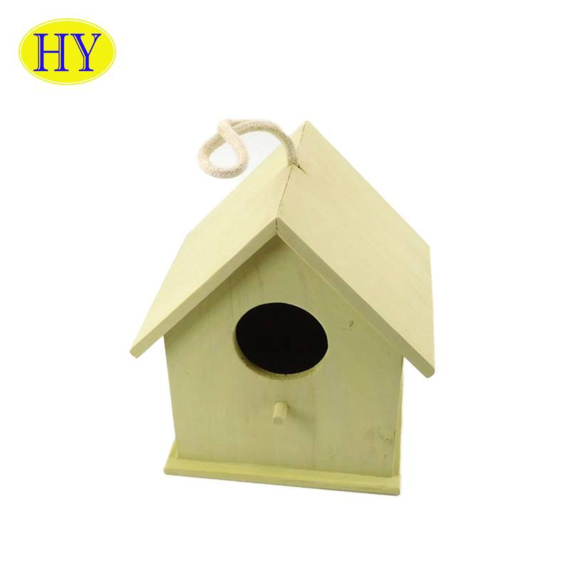 Custom Eco-friendly New Unfinished Wholesale Garden Wooden Bird House