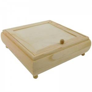 china factory wholesale unfinished wood jewelry box