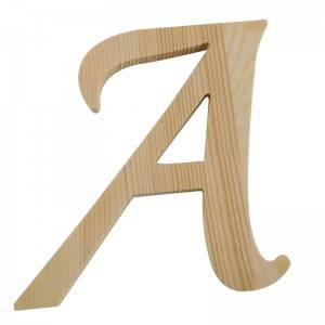 unfinished china manufacturer pine wooden alphabet letters