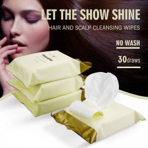 Hair scalp cleansing wipes