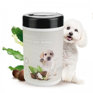 All Natural hypoallergenic 200 counts pet wet wipes safe friendly for dogs and cats