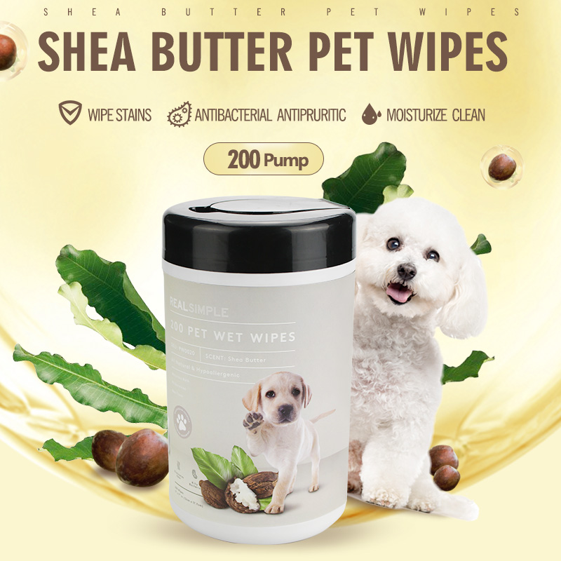 China Wholesale Flushable Wipes Factory - All Natural hypoallergenic 200 counts pet wet wipes safe friendly for dogs and cats – Better