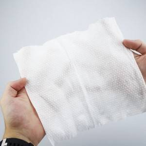 Pearl pattern disposable face towel dry wipes
