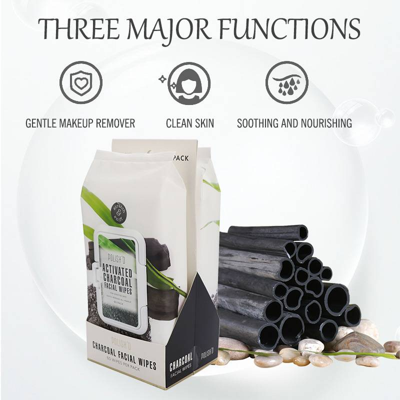 China Wholesale Wet Floor Wipes Quotes - Cleaning and moisturize activated spascriptions charcoal makeup wipes – Better