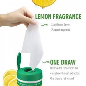 Factory wholesale lemon taste disinfection personal care antibacterial wet wipes