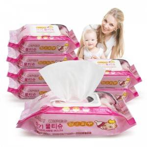 Customizable biodegradable baby wipes 100 wipes Household No fragrance Clean Baby Wipes