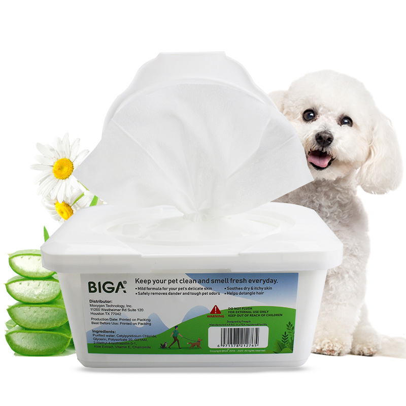 China Wholesale Baby Wet Wipes Suppliers - Factory wholesale natural safety boxed 100 counts pet cleaning wipes bacterial wipes for dogs and cats – Better