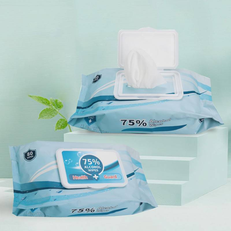 Factory high quality super 80 wipes bag multipurpose cleaning 75% alcohol wipes Featured Image