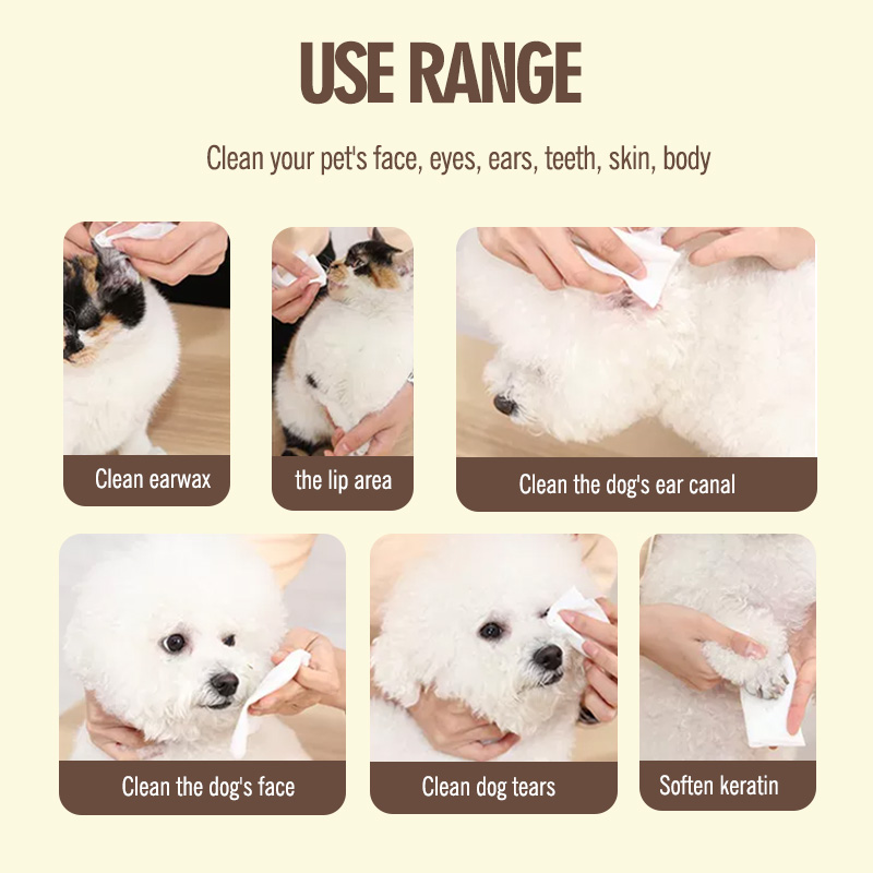 China Wholesale Makeup Remover Wipes Without Alcohol Factory - All Natural hypoallergenic 200 counts pet wet wipes safe friendly for dogs and cats – Better detail pictures