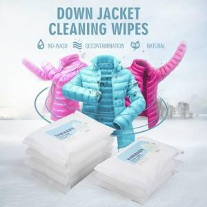 High quality spunlace non-woven fabric for gentle cleaning down jacket wet wipes