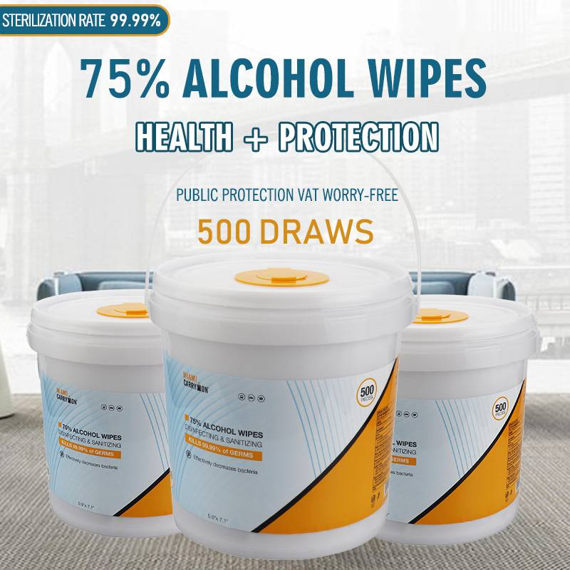 China Wholesale Non Alcohol Makeup Remover Wipes Manufacturers - Effectively decreases bacteria 75% Alcohol disinfecting & antibacterial sanitizing wipes – Better