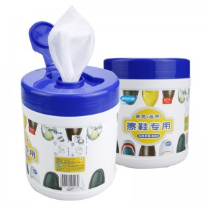 Customize easily effectively clean white and leather shoes wipes