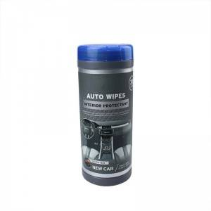 Factory Accept customized Wash Car Dashboard Interior Care Auto Barrel Clean Wet Wipes For Car