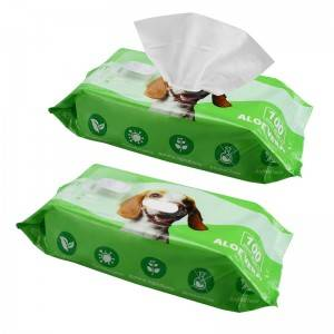 High quality large size pet grooming pet bath wipes for dogs