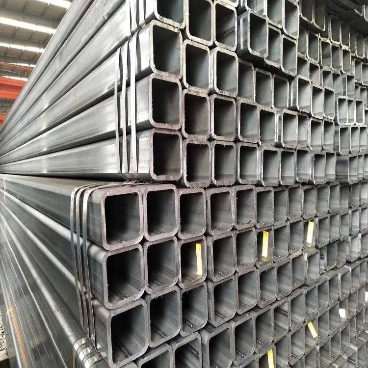 China Rectangular Steel Tubing Factories - Mild Steel Ms Carbon Black Steel Square Rectangular Hollow Section Pipe Q235 Tube – TOPTAC