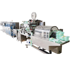 5-30 pieces/pack portable wet wipes production line (mother roll)