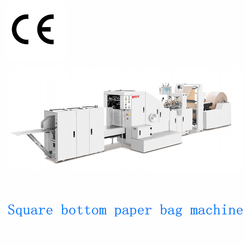 Rzfd-190 Roll Feeding Square Bottom Paper Bag Machine