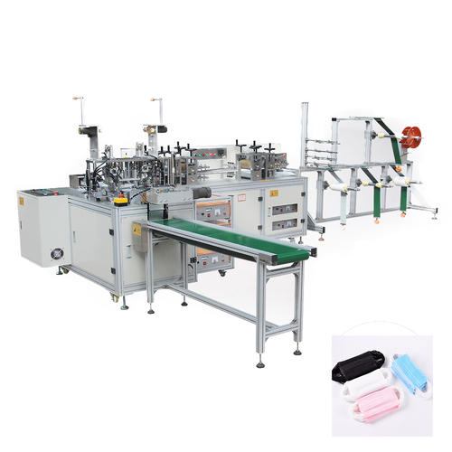 Automatic flat speed 3 ply face mask making machine (1+1)