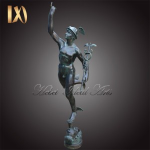 Life Size Sculpture Classic Figure Statue Bronze Flying Mercury Caduceus sculpture Statue For Sale