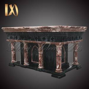 Factory wholesale White Marble Busts For Sale - Custom mixed color marble church altar table for Sale –  Ideal Arts