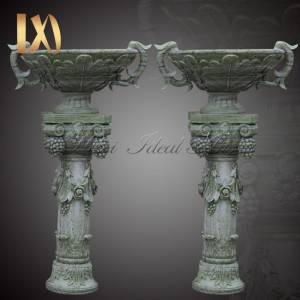 Best quality Apollo Marble Bust For Sale - Garden Decoration green Marble Flower Pots Outdoor planter for Sale  –  Ideal Arts