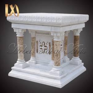 Factory wholesale Religious Stone Statue - Custom Made White Marble Church Pulpit Table for Sale –  Ideal Arts