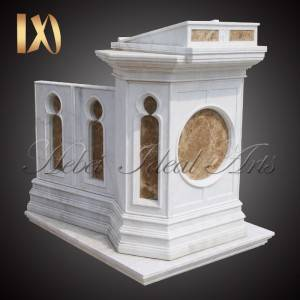 Manufacturer for Jesus Sacred Heart Statue - Hand Carving Natural White Marble Church Pulpit for Sale –  Ideal Arts