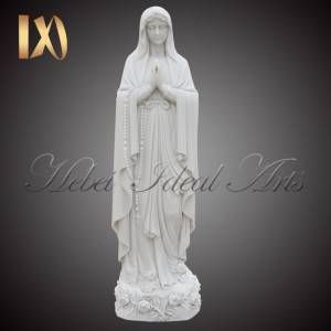 China wholesale Jesus Statues For Sale - Outdoor marble religious our lady of Lourdes statue on discount sale for church decoration –  Ideal Arts