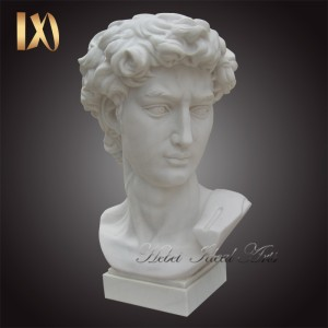 Famous Roman Greek Marble Bust of David Bust Sculpture White Stone Marble Bust