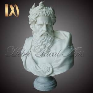 hand carved bust of the Greek god Zeus for Sale