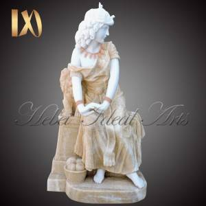 Fast delivery Marble Heart Headstone - Factory outlet Mixed color marble sitting lady for sale –  Ideal Arts