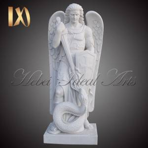 Hot New Products Statue Of Mary - Custom Made marble St Michael on Teyepac Hill statue for Sale –  Ideal Arts