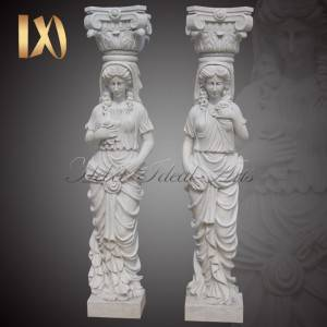 Cheap price Garden Marble Column - Modern Statue Column Greek Caryatid Modern Pillar Designs for Front Porch Support for Sale –  Ideal Arts