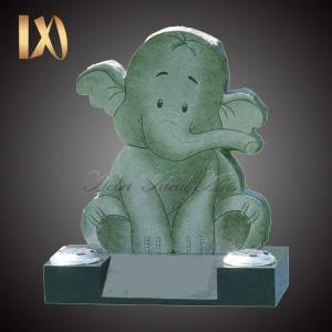 Hand Carved Elephant design Headstone &monument for sale