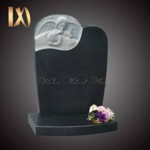 China Wholesale Marble Weeping Angel Monument Suppliers –  Hand Carved Guardian Angel Headstone &monument for sale –  Ideal Arts