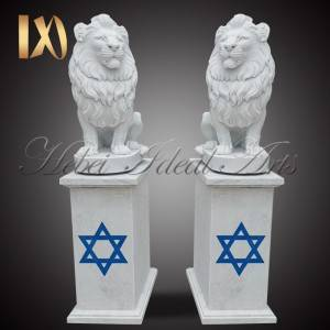 China Wholesale Marble Busts For Sale Pricelist –  Custom sized and designed marble lion statue –  Ideal Arts