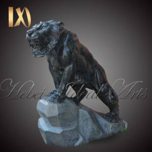 Custom sized beautiful marble tiger statues for sale