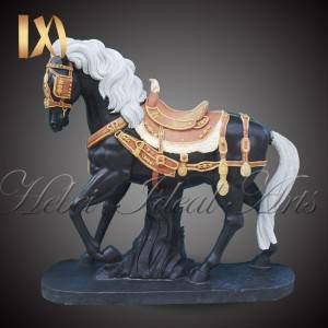 Custom sized mixed color horse marble statues