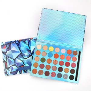 Makeup eyeshadow palette customized private labels colorful eyeshadow palette cruelty free